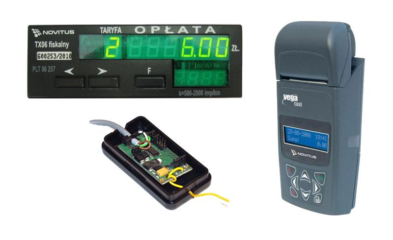 Zestaw: Vega Taxi + TX06 + przetwornik/dzielnik impulsów